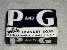 P & G White Laundry Soap Bar