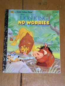 Lion KIng, No Worries, Little Golden Book, First Printing