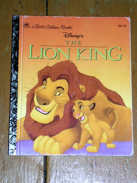 The Lion KIng,  Little Golden Book, First Printing