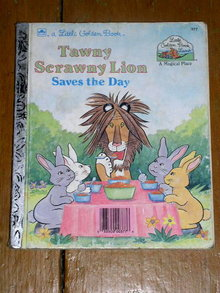 Tawny Scrawny Lion, Little Golden Book, First Printing