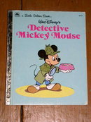 Detective - Mickey Mouse,  Little Golden Book, First Printing