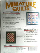 Miniature Quilts #21- 1996  -  QM