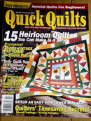 Quick Quilts  #22 by Quilts Magazine - 2001  -  QM