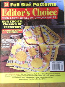 Editor's Choice  #18, Lady's Circle Patchwork Quilts - 1994  -  QM