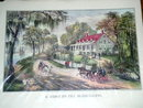 Currier & Ives - A  Home on the Mississippi