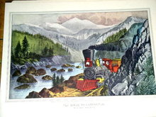 Currier & Ives - The Route to California - Truckee River Sierra-Nevada