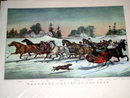 Currier & Ives -  Trotting Cracks on the Snow