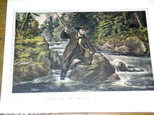 Currier & Ives -  Brook Trout Fishing