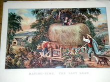 Currier & Ives -  Haying Time - The Last Load