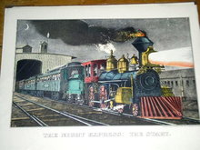 Currier & Ives -  The Night Express: The Start