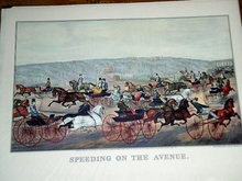Currier & Ives -  Speeding on the Avenue