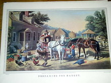 Currier & Ives -  Preparing for Market