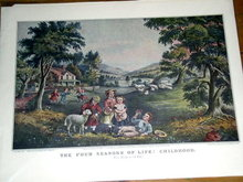 Currier & Ives -  The Four Seasons of Life - Childhood