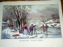 Currier & Ives -  Winter Pastime