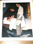 Norman Rockwell Print - Freedom From Fear