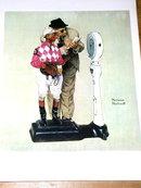 Norman Rockwell Print - Jockey Weighing In