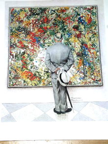 Norman Rockwell Print- The Connoisseur