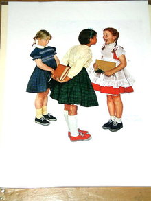 Norman Rockwell Print - Check Up