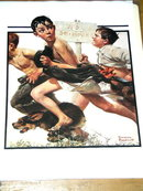 Norman Rockwell Print - No Swimming
