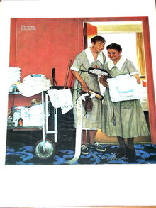 Norman Rockwell Print - Bridal Suite