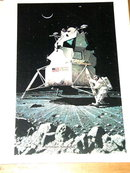 Norman Rockwell Print - Lunar Landing