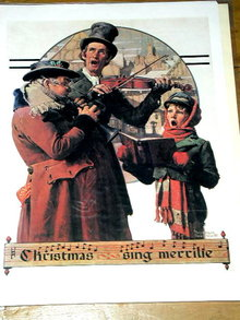 Norman Rockwell Print - The Christmas Carol