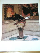 Norman Rockwell Print - The Art Student