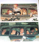 Norman Rockwell Print - The Outing