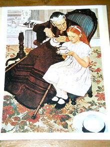 Norman Rockwell Print  - Tea Time