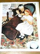 Norman Rockwell Print  - Tea Time