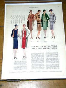 Woman's Fashion Pattern Advertisement 1927