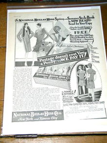 National Bellas Hess Co. Catalog  Advertisement 1929