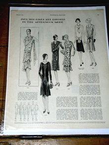 Woman's Fashion Pattern Advertisement 1929