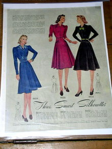 Woman's Fashion Pattern Advertisement 1939