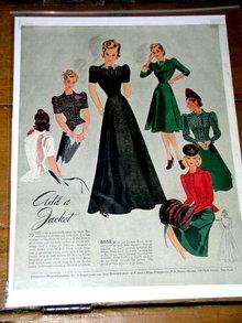 Woman's Fashion Pattern Advertisement 1939