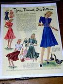 Woman's Fashion Pattern Advertisement 1940