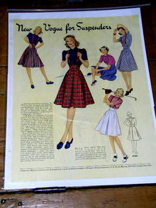 Woman's Fashion Pattern Advertisement 1940