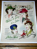 Woman's Stetson Hats Advertisement 1940