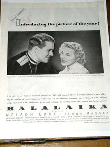Balalaika   Movie Advertisement - 1940