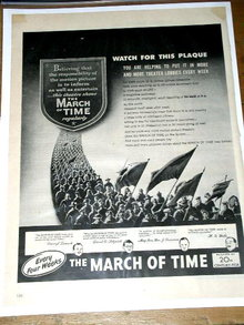 The March of Time   Movie Advertisement
