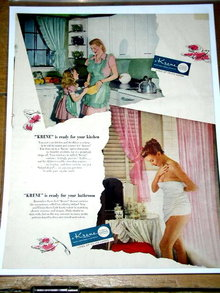 Kreme Plastic Fabric Advertisement