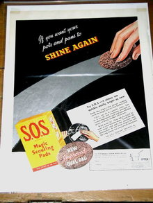 S. O. S. Magic Scouring Pads Advertisement  - 1939