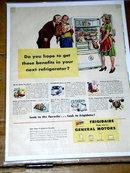 Frigidaire Refrigerator  Advertisement