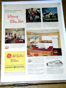 G E All-Electric Kitchen  Advertisement