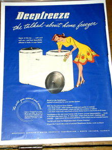 Deepfreeze Freezer  Advertisement