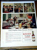 Kinsey Whiskey  Advertisement