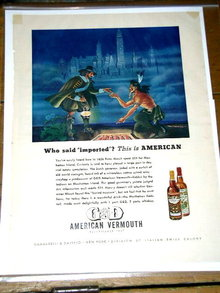 G & D American Vermouth  Advertisement