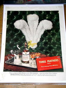 Three Feathers Blended Whiskey Advertisement