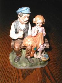 Lefton Grandfather and Girl  -  FG