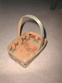 Split Wood Easter Basket